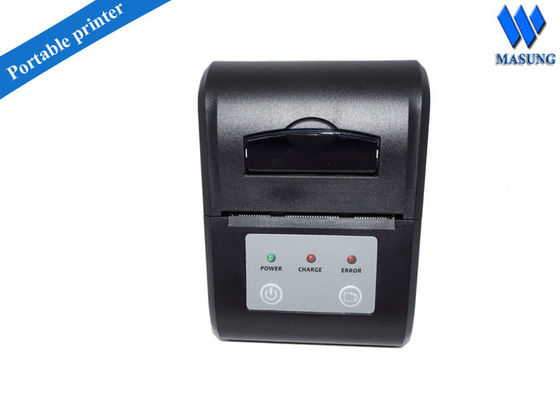 China Mini Pad 58mm 2 Inch mobile Thermal Printer , Mac OS Portable Mobile Bluetooth Printer factory